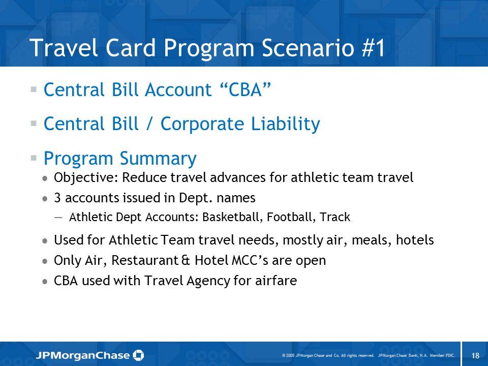 Eliminating Travel / Cash Advances Using Corporate Travel