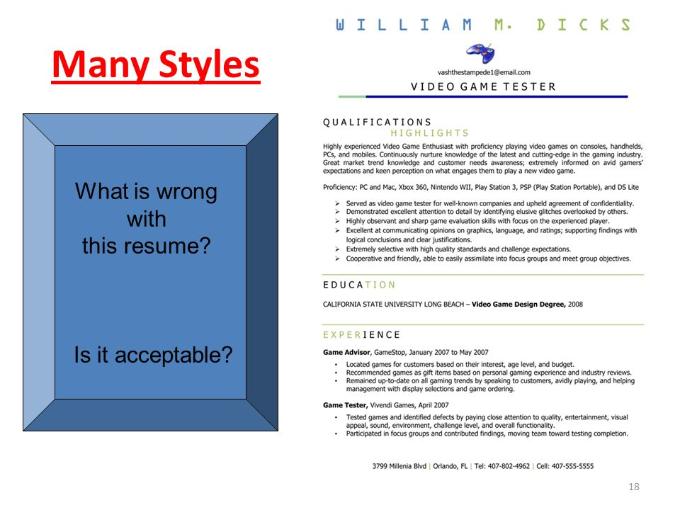 Resume Writing Why this step of your job search is so critical… 1 ...