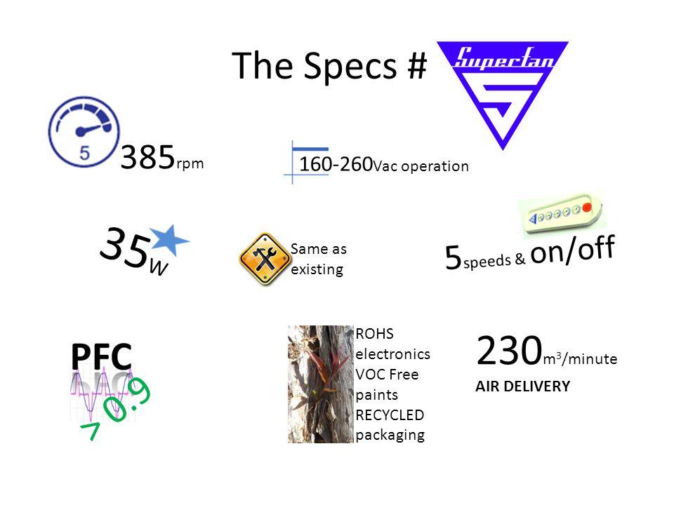 4 The Specs 385 Rpm