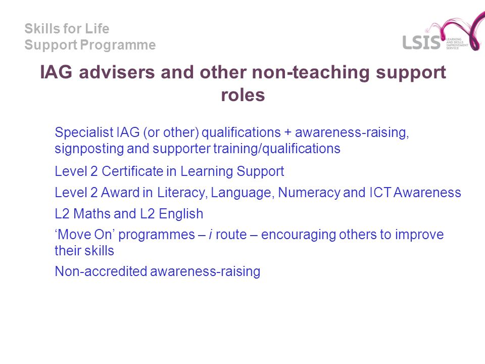 Skills For Life Support Programme T F E W The Skills For Life