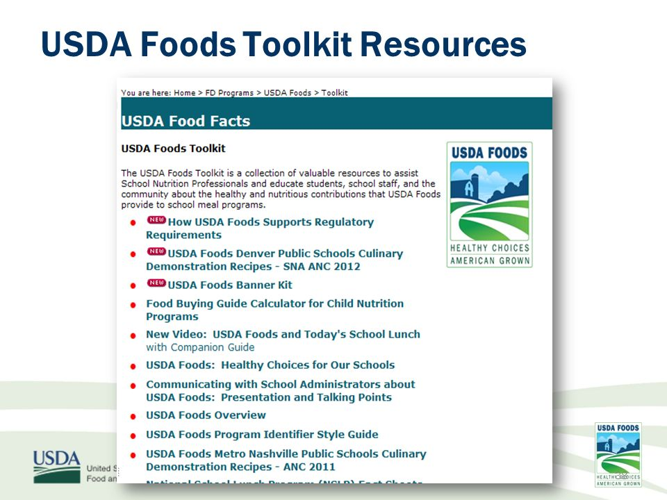 usda foods usda foods more choices for you more options for them a