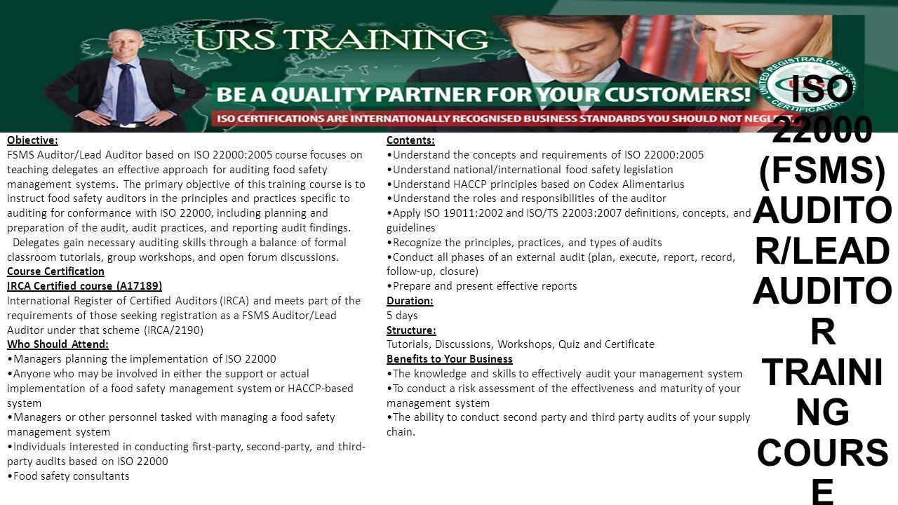 URS Egypt Training Catalogue ISO Management System HIGHFIELD