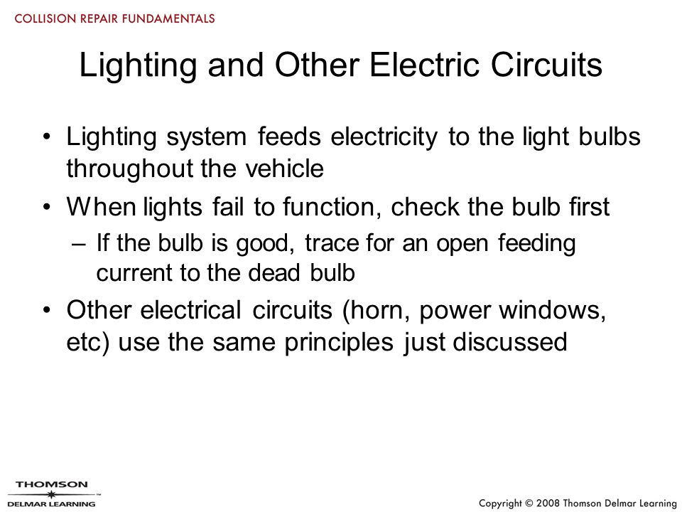 Chapter 26 electrical repairs objectives use various kinds of 32 lighting cheapraybanclubmaster Choice Image