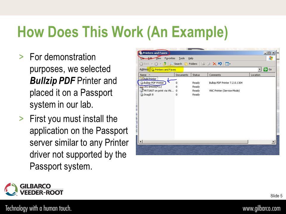 "PDF Printing with Passport ® POS A ""Green Alternative"" to"