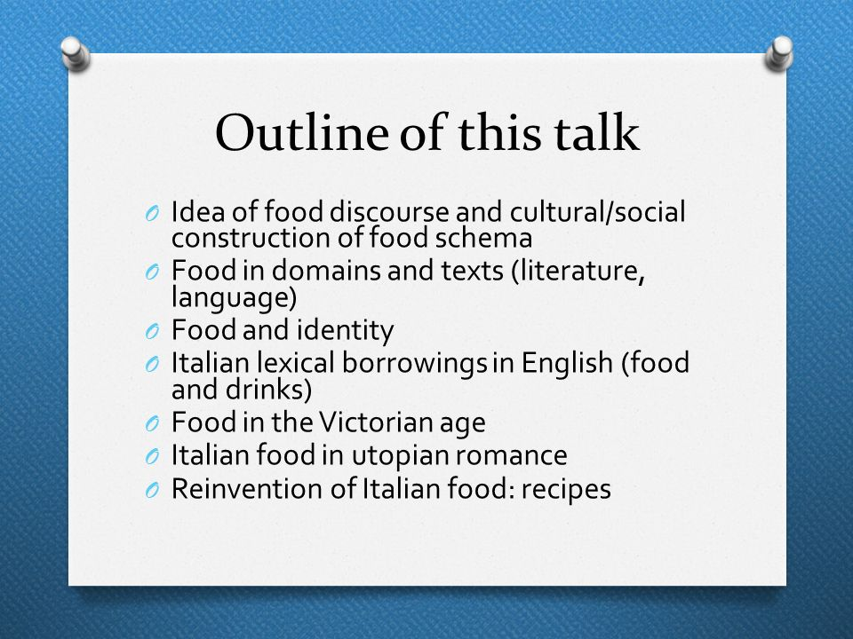 The reinvention of Italian cuisine in the Anglo-Saxon imagination