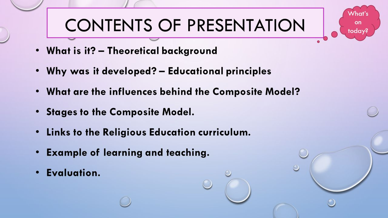 CONTENTS OF PRESENTATION What is it. – Theoretical background Why was it developed.