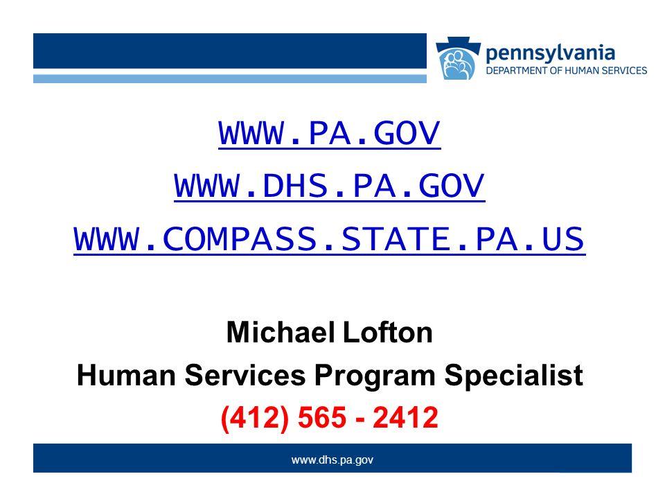 Michael Lofton Human Services Program Specialist 412 Ppt