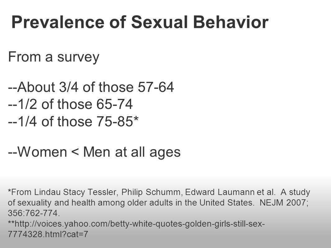 Edward laumann sexual patterns