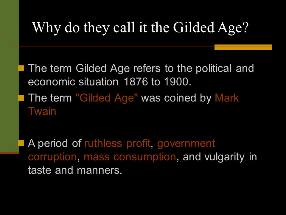 gilded age dates