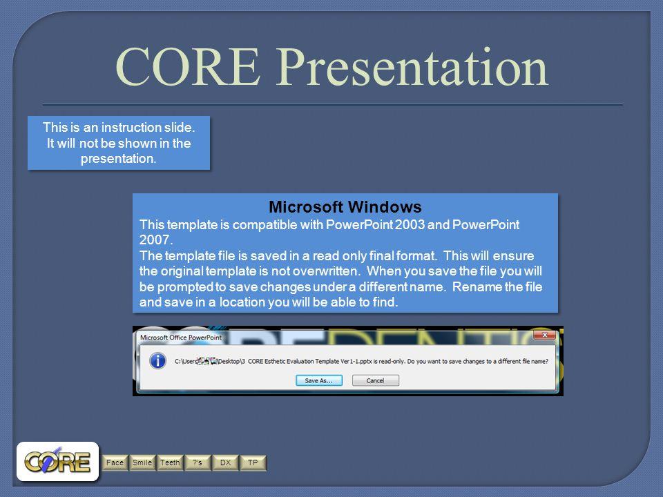 Facesmileteethsdx tp coredentistry core dentistry all rights facesmileteeth sdx tp core presentation this is an instruction slide toneelgroepblik Gallery