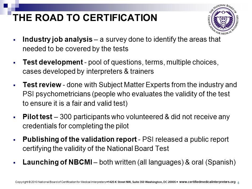 copyright 2010 national board of certification for medical rh slideplayer com