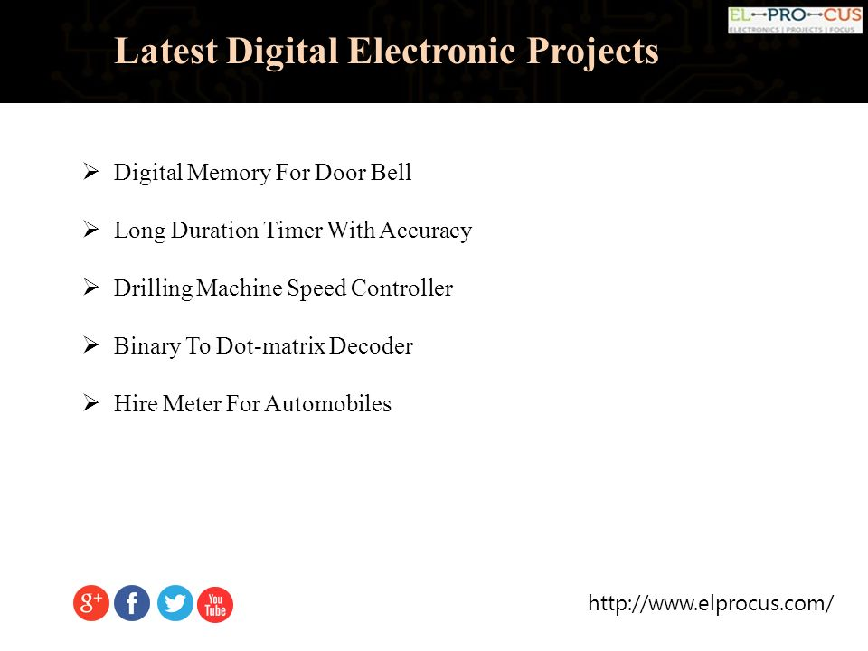 Latest Digital Electronic Projects  Latest Digital
