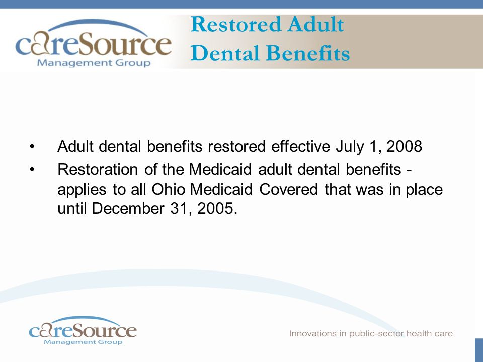 Caresource Dental Program September 9 00 1 Ppt Download