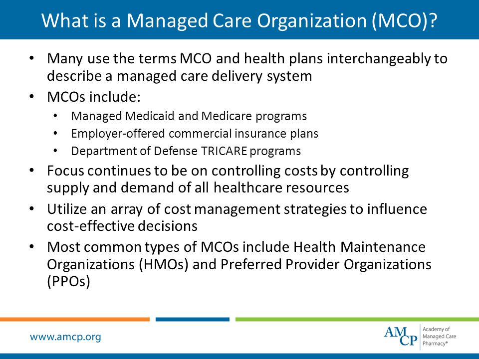 The History of Managed Care Organizations in the United
