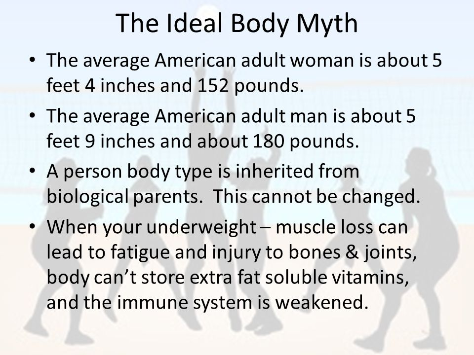 The Ideal Body Myth The Average American Woman Is About  Inches And