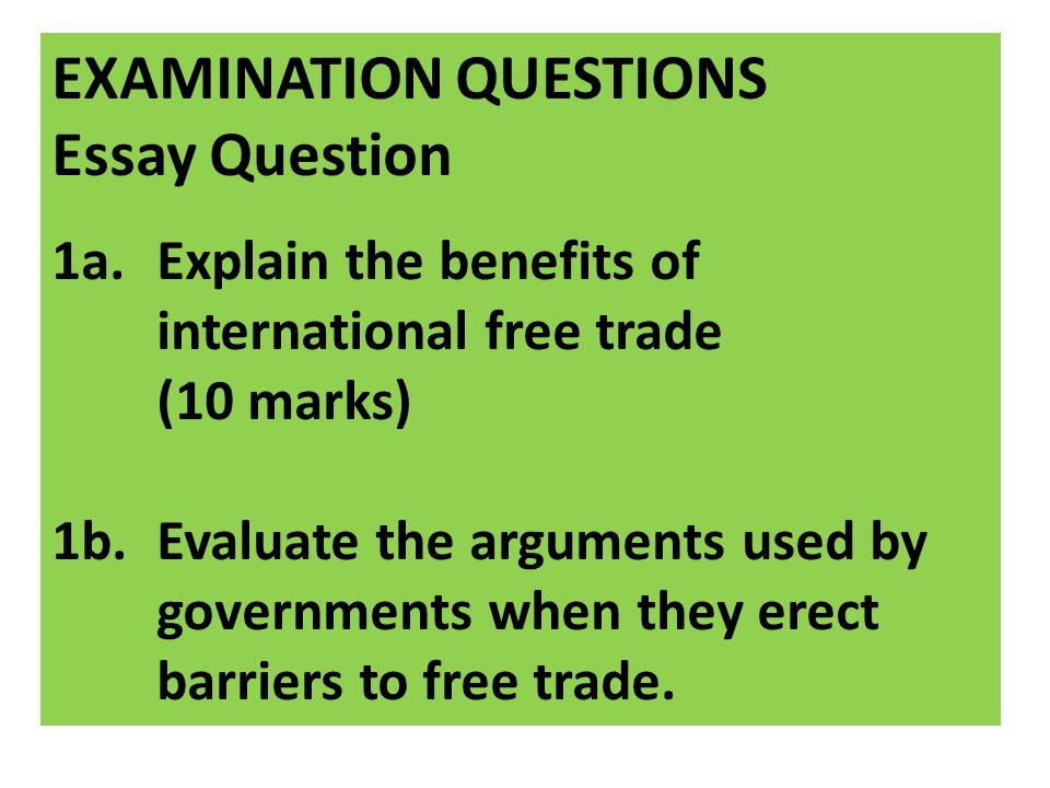 free trade essay