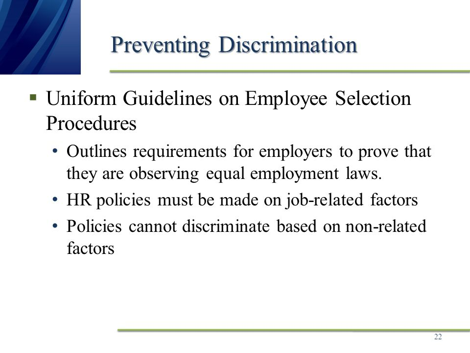 Chapter 3 Workforce Diversity, Equal Employment Opportunity