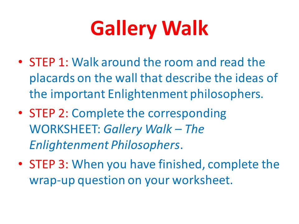 Gallery Walk Great Brains Of The Enlightenment Pair Share What Was