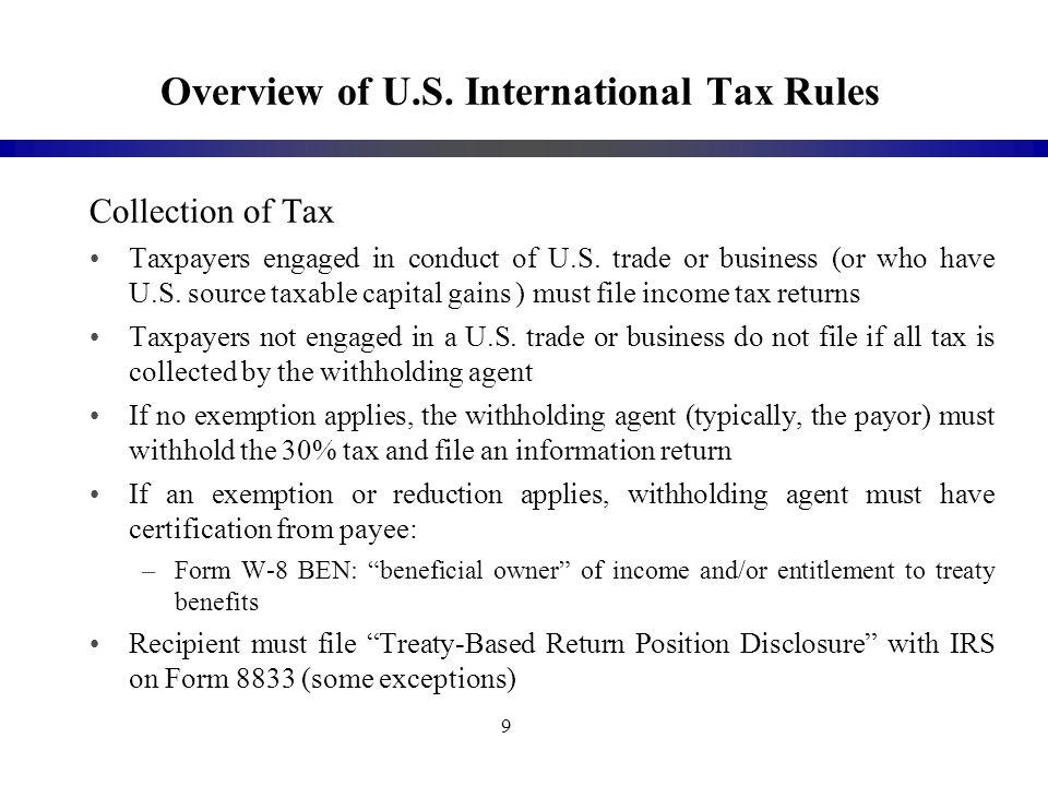 Tax Treaties And Anti Treaty Shopping Initiatives Edward Tanenbaum