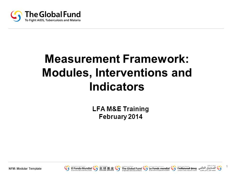 NFM: Modular Template Measurement Framework: Modules, Interventions ...