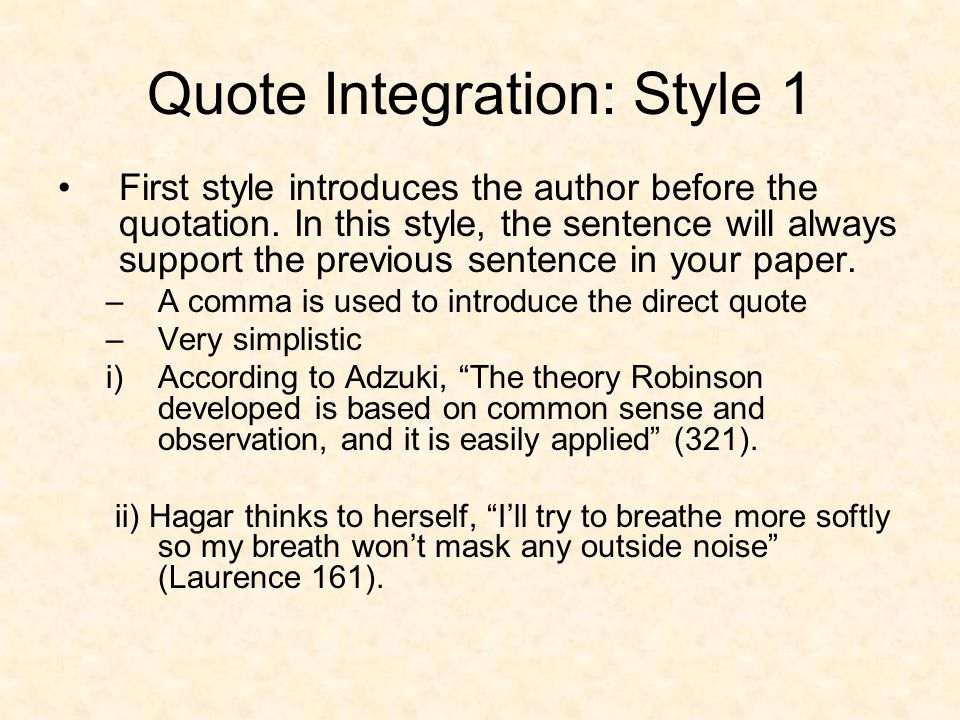 Quote Integration Each Quotation Should Not Only Be Introduced With Unique Quote Integration