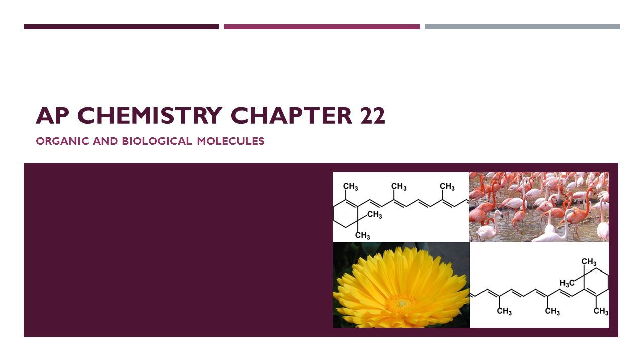 AP CHEMISTRY CHAPTER 22 ORGANIC AND BIOLOGICAL MOLECULES. - ppt ...
