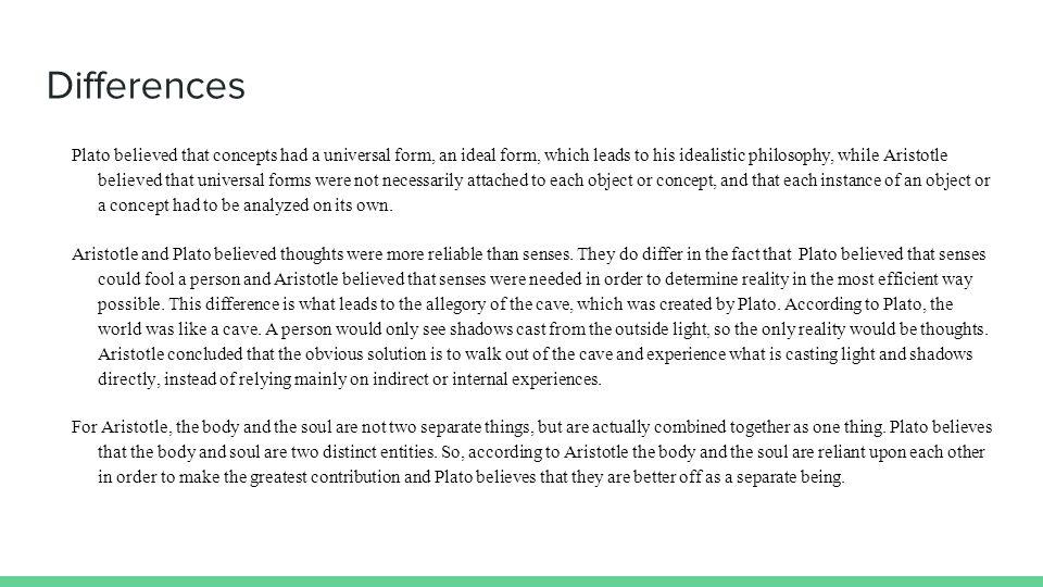 Aristoleian vs platonic philosophy of epistomology