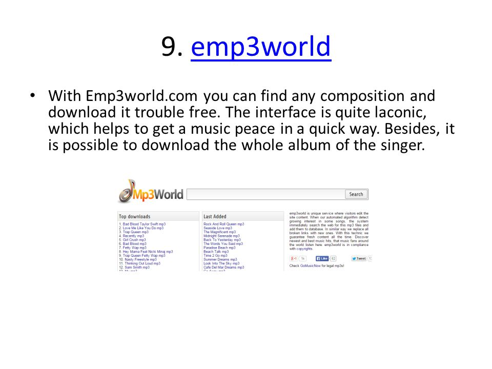 Top 20 legal and free music download websites  I'm a big fan