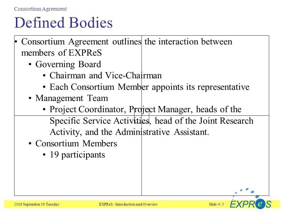 Expres Board Meeting Consortium Agreement Overview And Highlights
