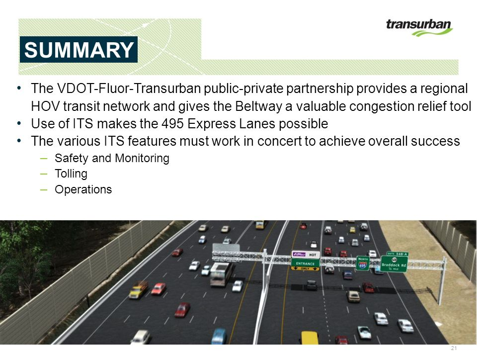 ITS VIRGINIA MEETING APRIL 19, EXPRESS LANES ITS APPLICATIONS