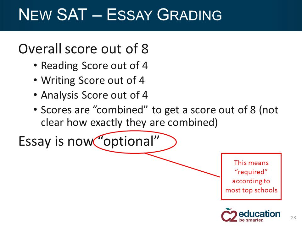 sat essay score 8