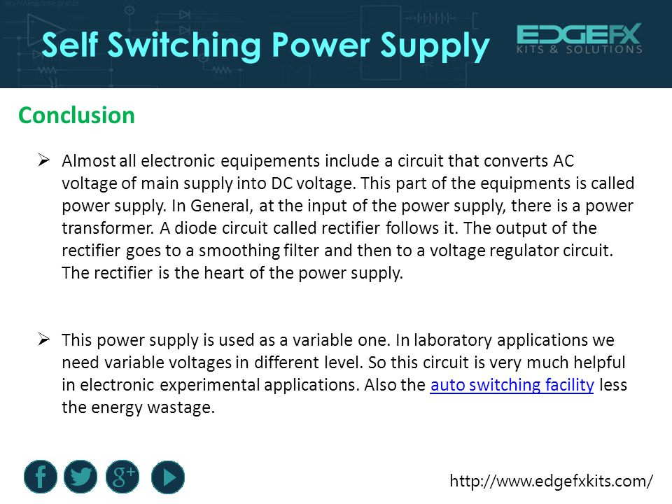 Self Switching Power Supply. Introduction Self Switching Power ...