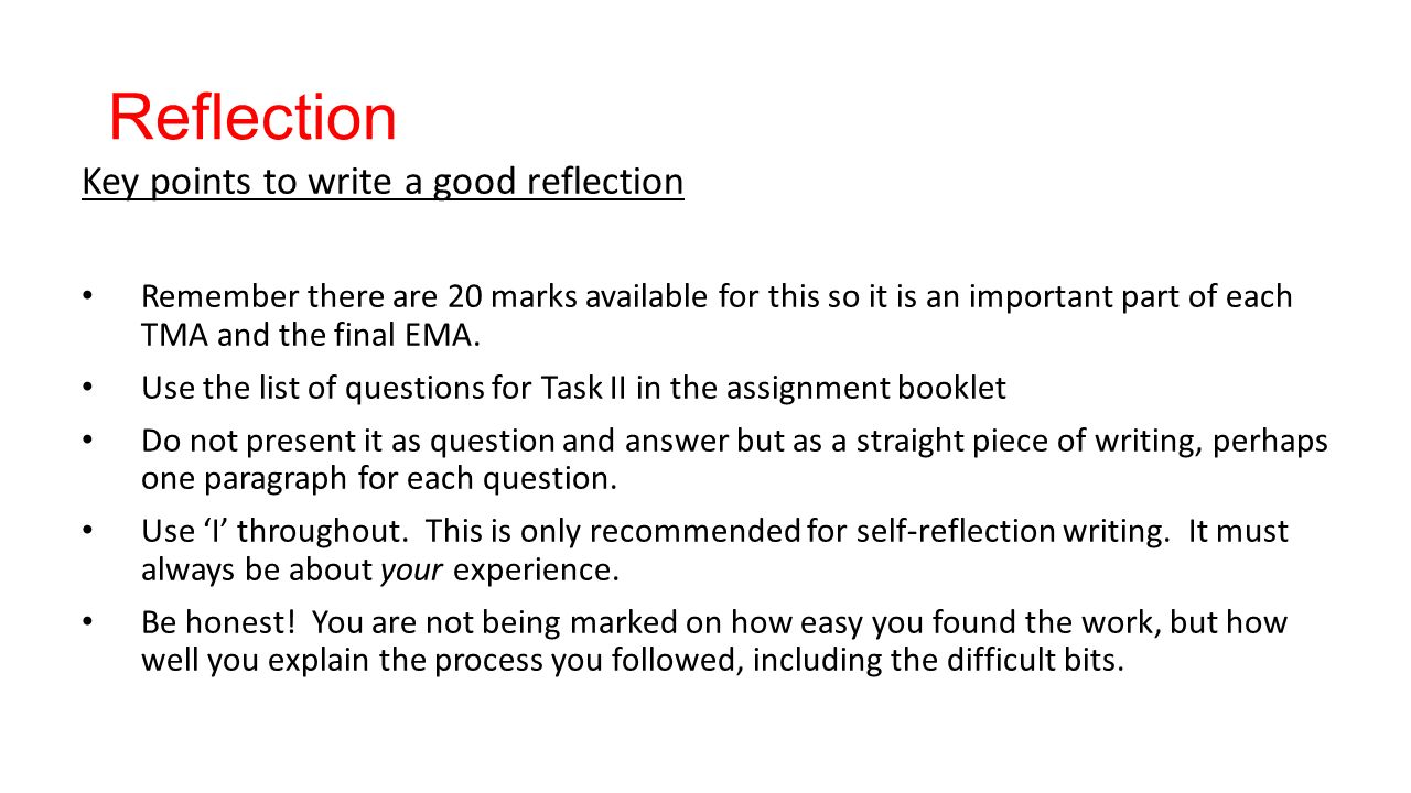 Reflection and key points