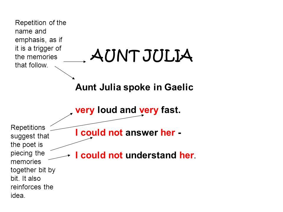 aunt julia norman maccaig essay