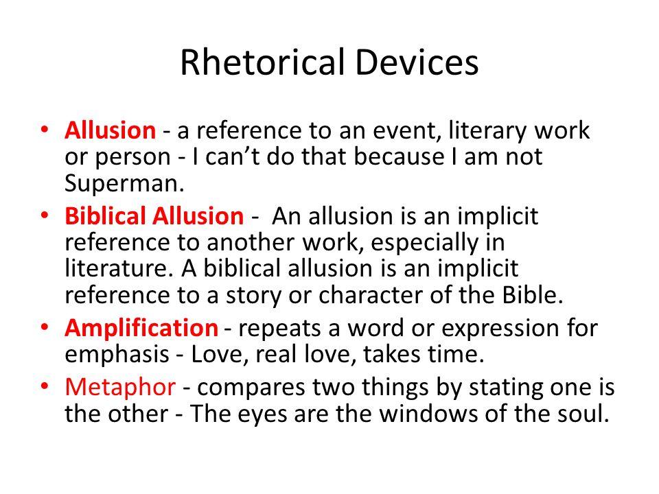 easy rhetorical devices