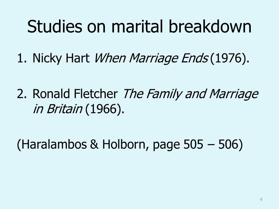 marital breakdown