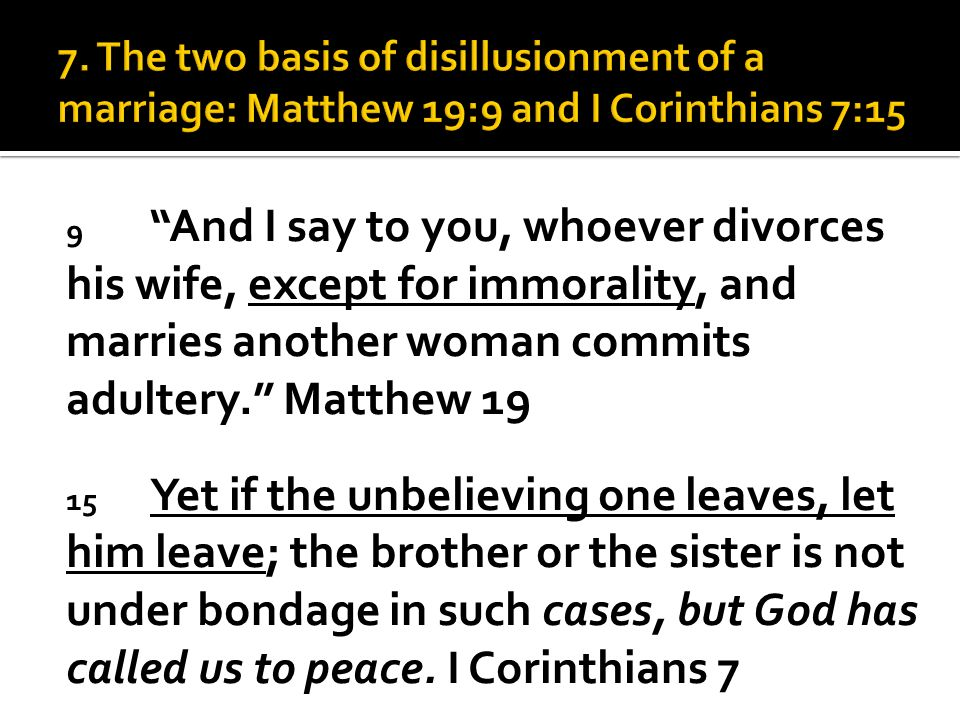 Marriage is a microcosm of one's spiritual life  Satan is