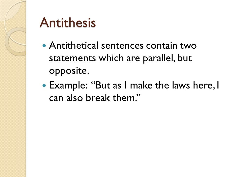 antithesis in poetry