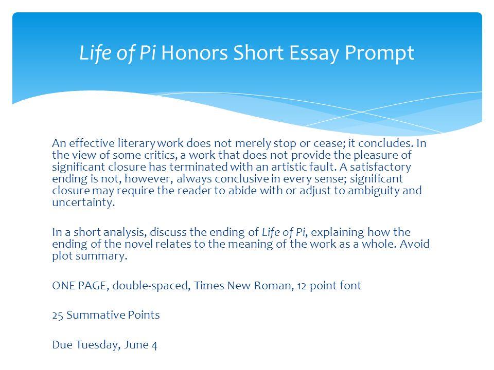 life of pi book short summary