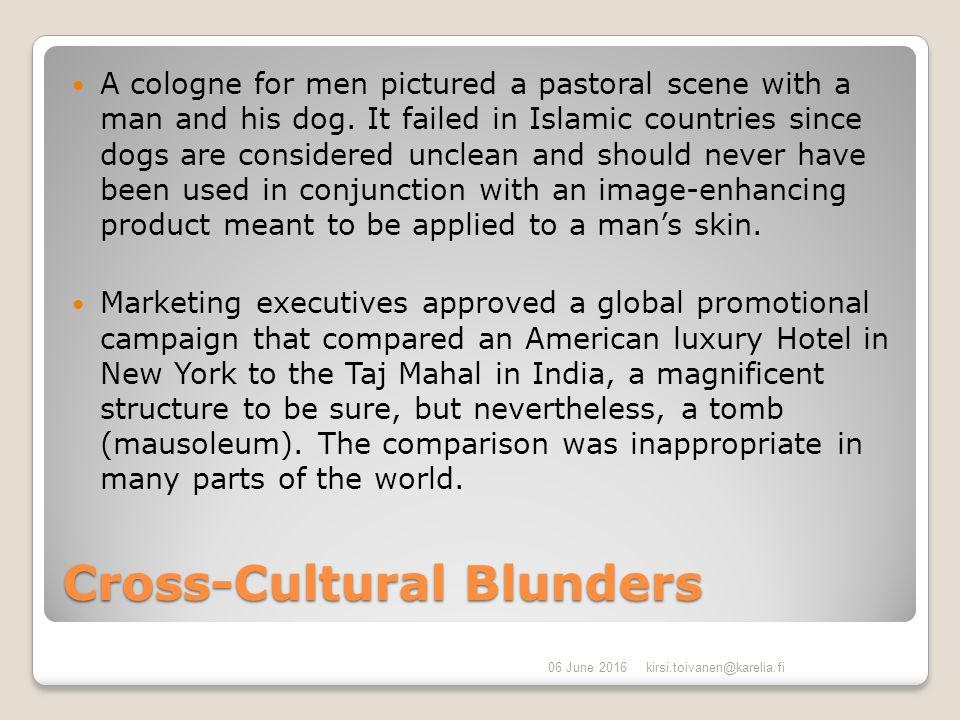 cross cultural blunders