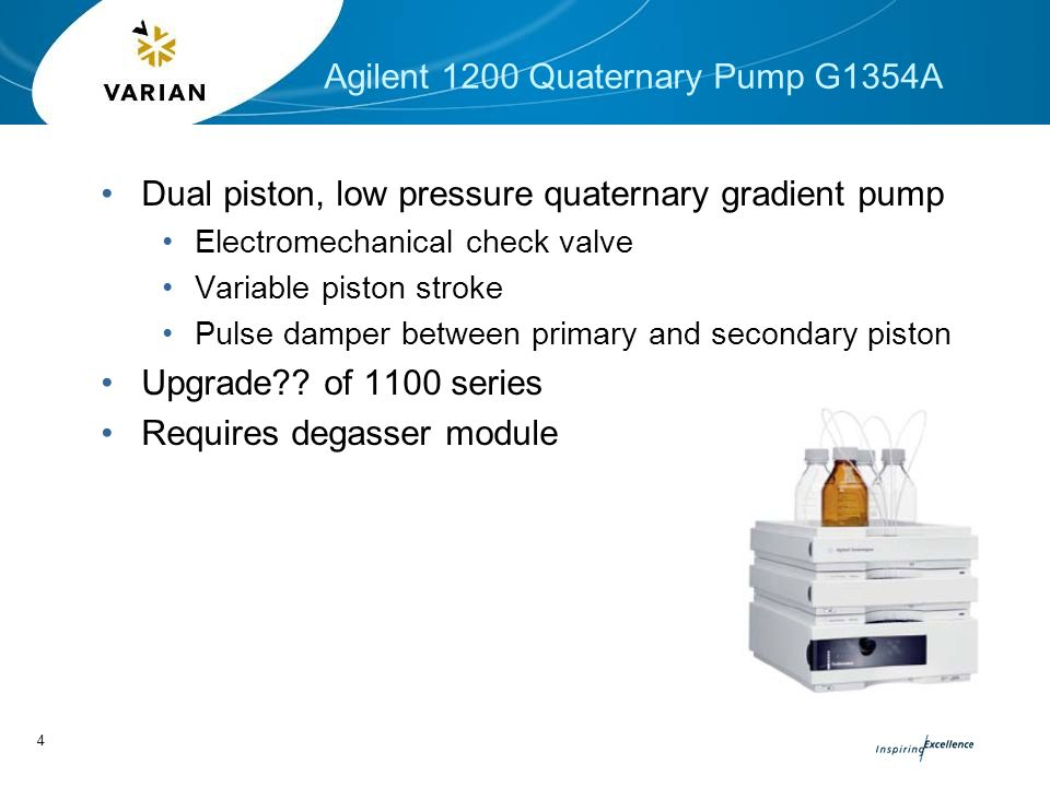Comparison of the Varian 920-LC with Agilent 1200 Series HPLC  - ppt