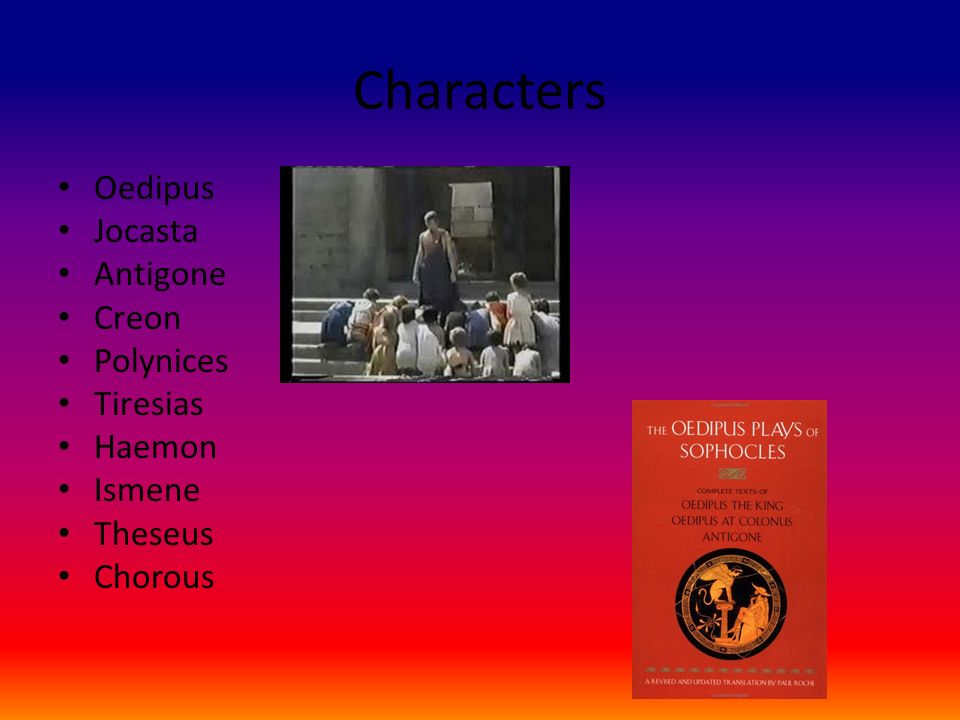 oedipus characters