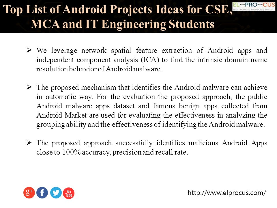 Top List Of Android Projects Ideas For CSE, MCA And IT Engineering