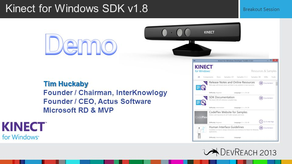 Kinect for Windows - Designing Software for Gesture & Voice