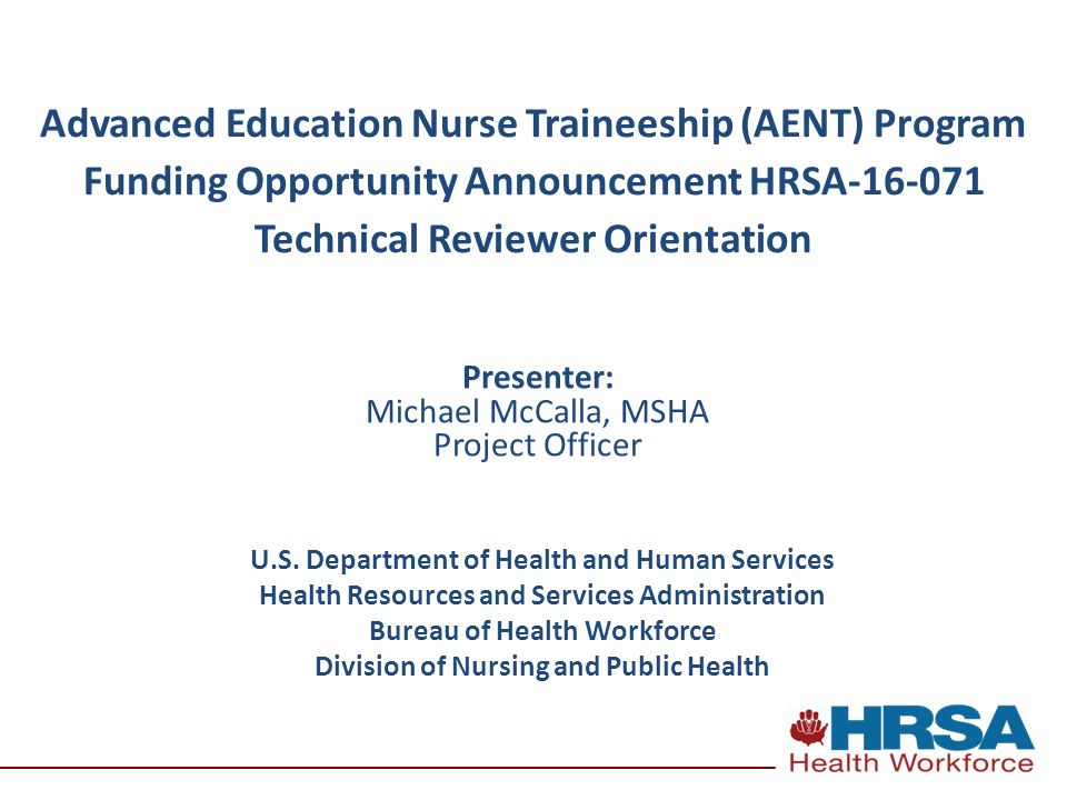 Advanced Education Nurse Traineeship (AENT) Program Funding