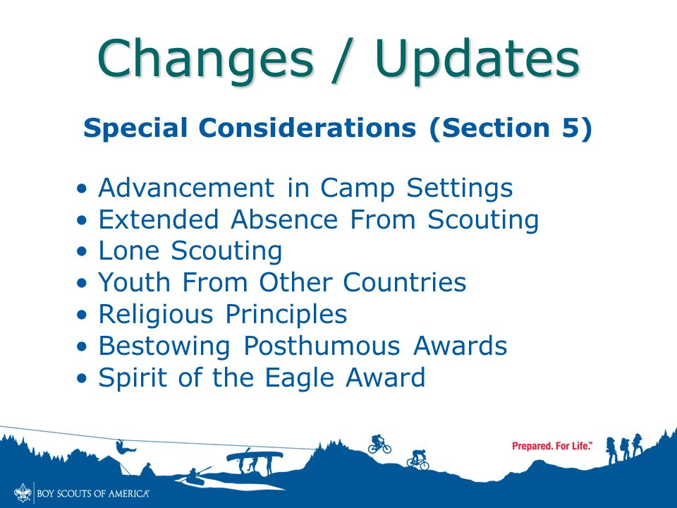 extended absence from scouting lone scouting youth from other countries religious principles bestowing posthumous awards spirit of the eagle award