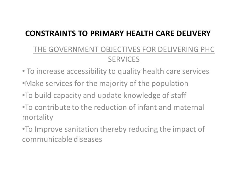 disease trends and the delivery of health care servies essay Goal increase the quality, availability, and effectiveness of educational and community-based programs designed to prevent disease and injury, improve health, and enhance quality of life.