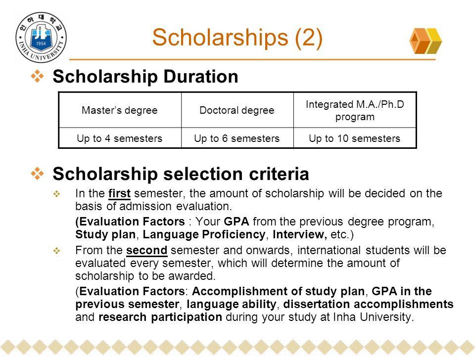 study plan for master degree scholarship