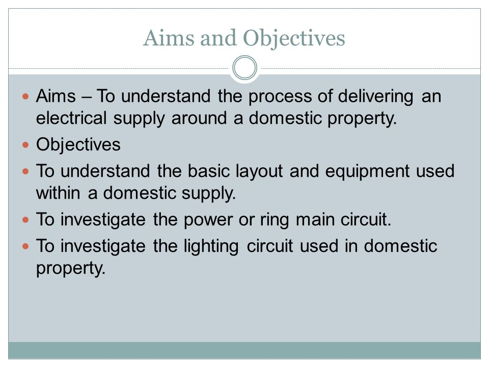 DOMESTIC ELECTRICAL CIRCUITS National Diploma Mechanical and ...