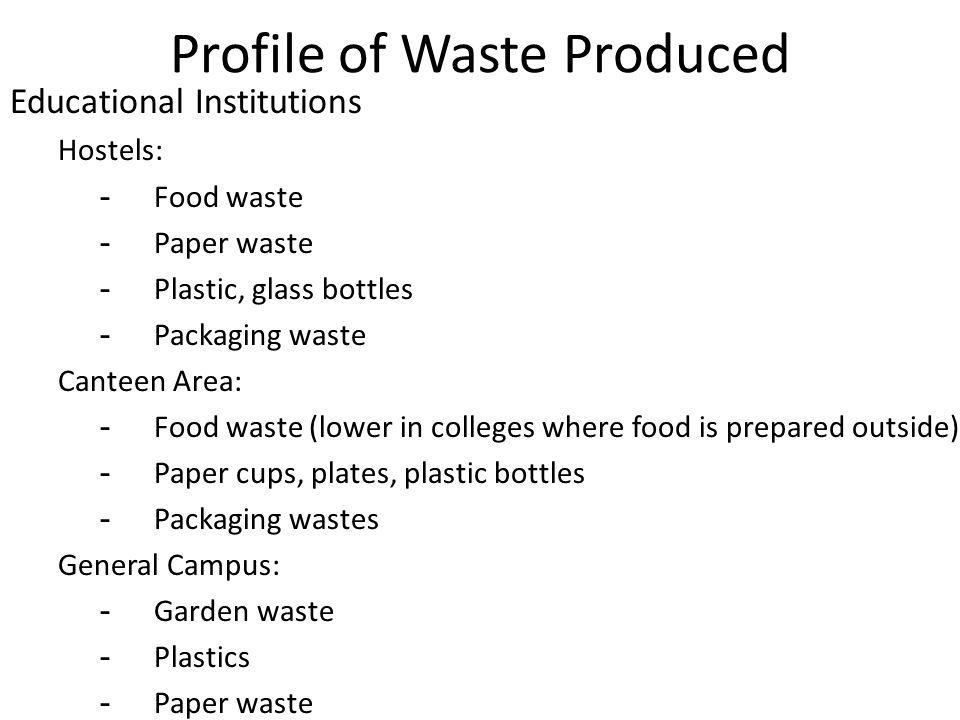 Bulk Waste Producers in Chennai A Preliminary Investigation